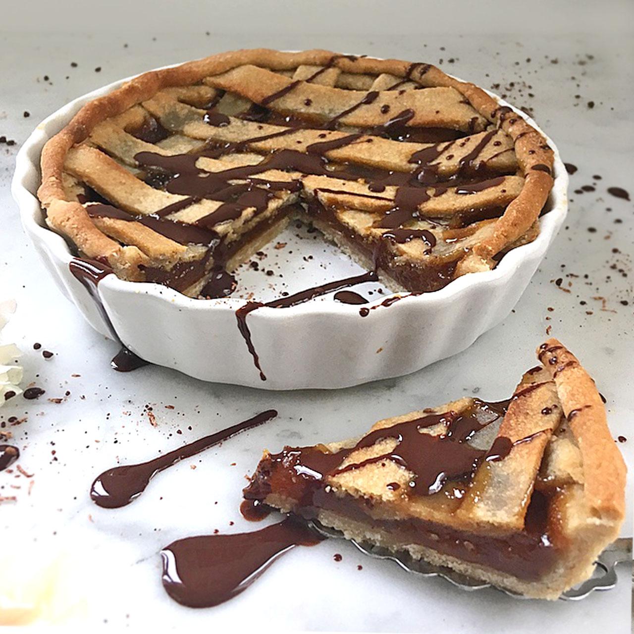 Hagebutten-Marzipan Torte Linzer Art - Low Carb-Vegan