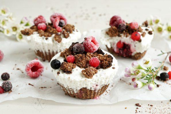 Low Carb Maulwurfkuchen Muffins - Zuckerfrei, Glutenfrei, Milchfrei & Paleo