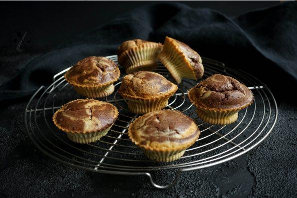 Low Carb Marmorkuchen-Muffins - Milchfrei und Paleo