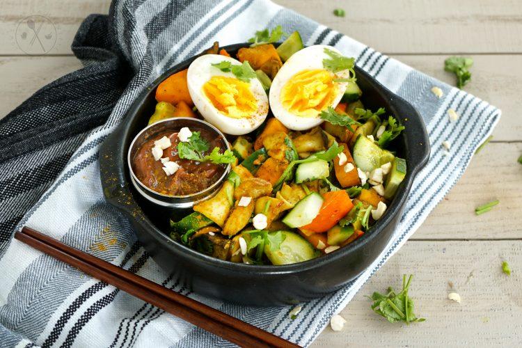 Vegetarische Low-Carb Gemüsepfanne