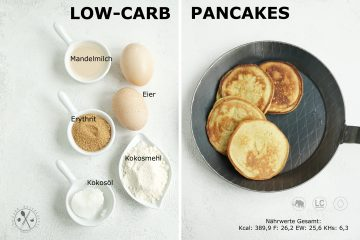 Low Carb Pancakes Zutaten