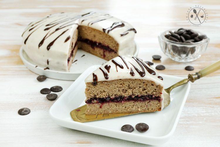 Low Carb Vanillepudding-Torte